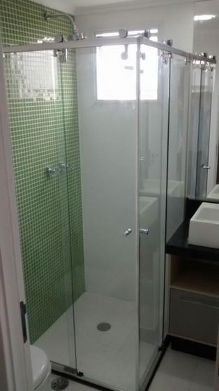 Box Elegance de Canto Onde Comprar em São Bernardo do Campo - Box Elegance de Vidro Espelhado