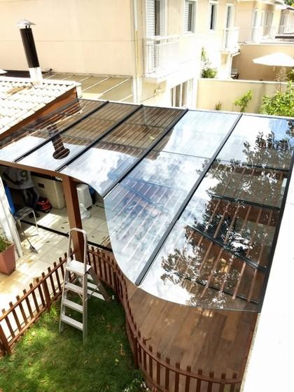 Cobertura de Vidro área Externa Valor Vila Mariana - Cobertura de Vidro Retrátil