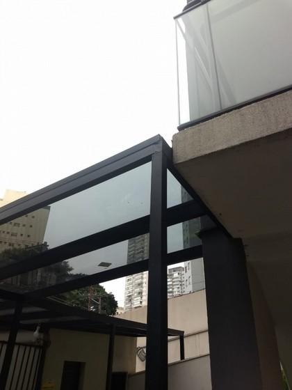 Cobertura de Vidro Garagem Vila Olímpia - Cobertura de Vidro Temperado