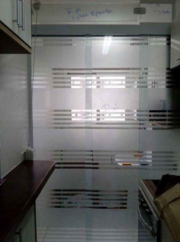 Divisórias de Vidro Deslizante Preço em Santo André - Divisórias de Vidro Jateado