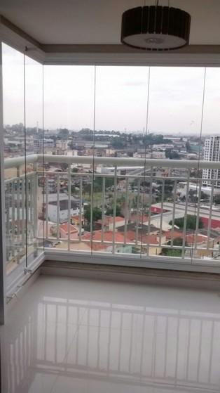 Envidraçamento de Sacadas Retratil Custo Campo Belo - Envidraçamento de Sacada Pequena
