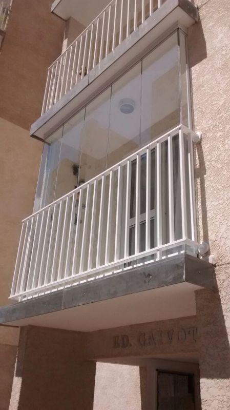 Quanto Custa Serviço de Envidraçamento em Diadema - Fechamento de Sacadas com Vidro