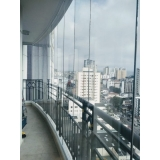 aplicação de cortina de vidro cascata Vila Assunção