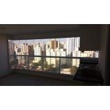 aplicação de cortina de vidro varanda pequena Parque Anchieta