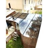 cobertura de vidro área externa Moema