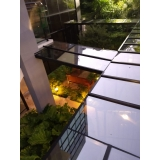 cobertura de vidro com calha Itaim