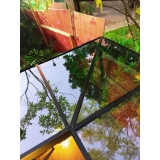 cobertura de vidro com película valor Ipiranga