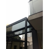 cobertura de vidro garagem Jabaquara