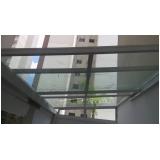 cobertura de vidro para garagem Campo Belo