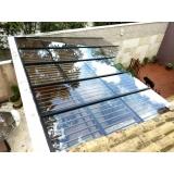 cobertura de vidro quintal valor São Bernardo do Campo