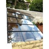 cobertura de vidro temperado valor Jabaquara