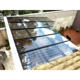coberturas de vidro área externa Campo Belo