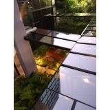 coberturas de vidro com película Cursino