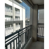 cortina de vidro incolor sob medida Parque Jaçatuba
