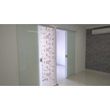 cortina de vidro para sala preço Moema