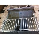 cortina de vidro temperado para varanda em Diadema