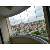 cortina de vidro varanda pequena Vila São José
