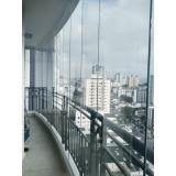 cortinas de vidro de varanda Campo Belo
