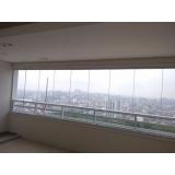 cortinas de vidro retrátil na sacada Vila Marques