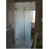 empresa de porta de vidro jateado Campo Belo