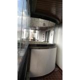 empresa que faz sacada de vidro com inox Itaim
