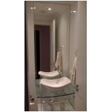 espelho grande para banheiro valores Jardim do Mar