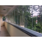 fechamento de sacada vidro Vila Marlene
