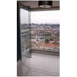 fechamento de varanda com vidro de correr orçamento Jabaquara