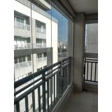 fechamento de varanda com vidro em apartamento orçamento Vila Olímpia
