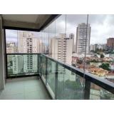 fechamento de varanda com vidro para apartamento orçamento Vila Olímpia