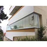 fechamento de varanda com vidro residencial orçamento Jabaquara