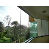 fechamento de varanda com vidro residencial Vila Nova Conceição