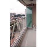 fechamento de varanda com vidro temperado orçamento Jabaquara