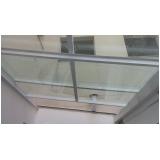 instalação de cobertura de vidro para garagem São Caetano do Sul