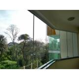 instalação de janela de vidro grande Baeta Neves