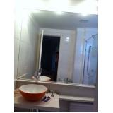 orçamento de espelho para banheiro grande Taboão