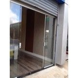 porta de vidro com alumínio preço em Santo André