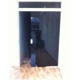 porta de vidro jateado sob medida Vila Humaitá