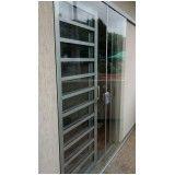porta de vidro temperado de correr em Santo André
