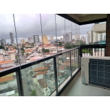 quanto custa fechamento de varanda com vidro para apartamento Vila Olímpia