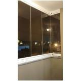sacada de vidro com alumínio Vila Mariana