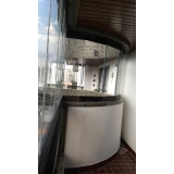 sacada de vidro fechada valores Campo Belo