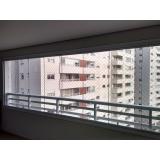 sacada de vidro fechada Vila Nova Conceição
